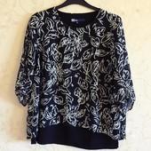 Красивая контрастная двухслойная блузка большого размера - 50