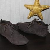 38 24см Zara Trafaluc Замшевые ботинки на низком ходу