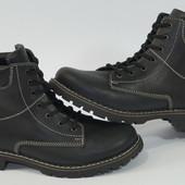 Зимние кожаные женские  ботинки