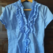 Блуза х/б, для офиса, для школьницы, 44-46 р