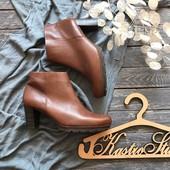 Кожаные ботинки Gabor на устойчивом каблуке р-р 42-43