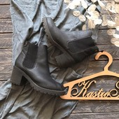 Ботинки челси на тракторной подошве р-р 37