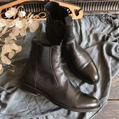Шикарные кожаные мужские ботинки челси р-р 41-42