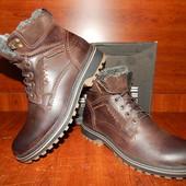 Мужские кожаные ботинки Riccone коричневые