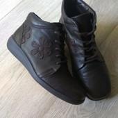 Кожаные ботинки Hotter Англия, отличное сост.
