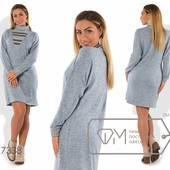 Х7336 Красивое платье 48-54рр 3 цв