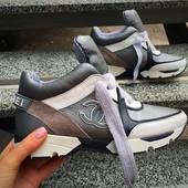 Кроссовки класса люкс! Выполнены из натуральной кожи+натуральный замш