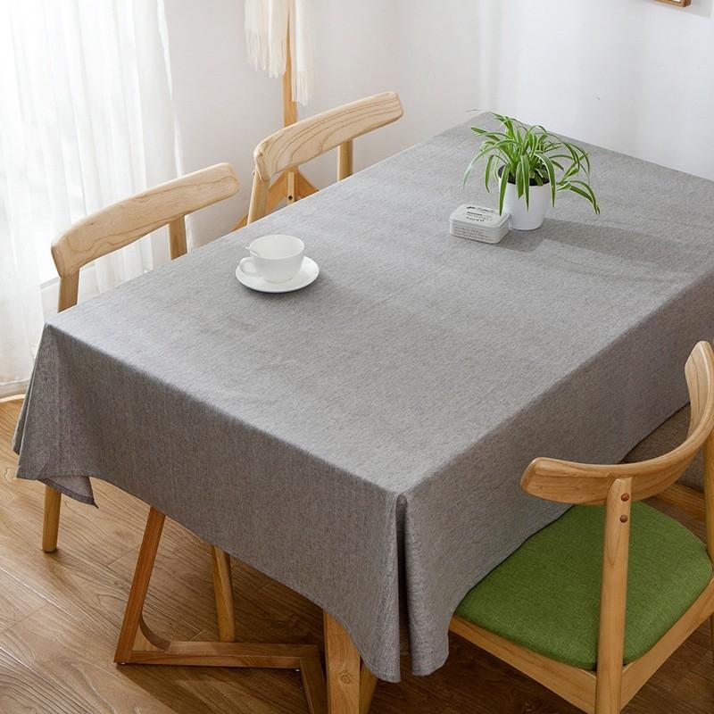 Элегантная однотонная скатерть из габардина серый фото №1