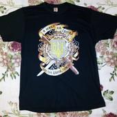 Новая мужская футболка в патриотическом стиле,р.хл-ххл