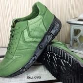 Кроссовки мужские зеленые