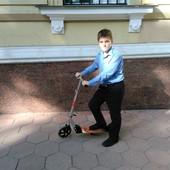 Самокат скутер для взрослого ребенка от 7 лет складной