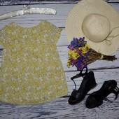 12 лет 152 см фирменная маечка блузка блуза цветы прованс для модниц Next некст