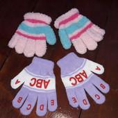 Перчатки девочке 2-4 лет