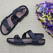 42 26,5см Ecco cosmo Кожаные босоножки на липучках сандалии