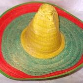 Шляпа сомбреро соломенная маскарадная Мексика - 53см