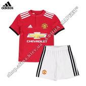 Детская футбольная форма Манчестер Юнайтед 2017-2018 Adidas домашняя (2327)