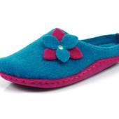 100-P2-2V-060 , тапочки женские домашние Inblu легкие как пух Цвет - голубой, Материал - фетр