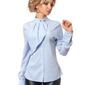 Блуза № 394 голубой