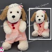 Мягкая игрушка Плюшевая Собака в платье, 33 см, 555-2