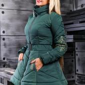 Стильная женская куртка осень-зима  м.л.хл.ххл (4
