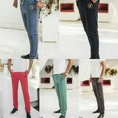 Спортивные штаны, трехнитка, цвета в ассортим, р. 46-52, код kt-31583