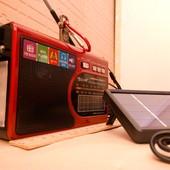 Радиоприемник Golon RX-1314-s c солнечной панелью+фонарь/лампа/usb/sd