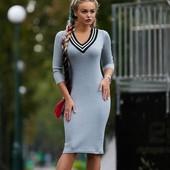 Трикотажное платье спортивного плана р-ры 42-46