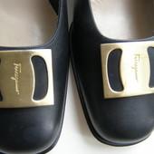Salvatore Ferragamo туфли кожа 25 см стелька Италия. Оригинал