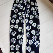 Распродажа Велюровые красивые синие в ромашку лосины для девочек