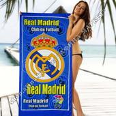 Пляжное полотенце Реал Мадрид 70х140 см микрофибра (2278)