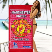 Пляжное полотенце Манчестер Юнайтед 70*140 см микрофибра (2281)