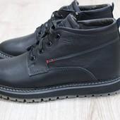 Зимние мужские ботинки синие и черные