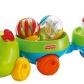 Fisher-Price Гусеница-каталка с сенсорными шариками roll-a-rounds pull & spin caterpillar J4507
