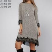 Стильное платье 3 цвета р-ры 42-50