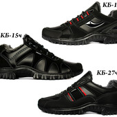 40 р Мужские зимние кроссовки на меху серии КБК