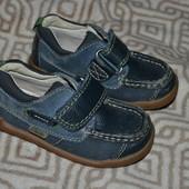 кожа! кроссовки туфли мальчику 14.5 см стелька 23 размер отл сост