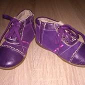 Ботинки замшевые с кожаными вставками