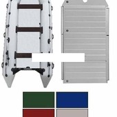 Лодка надувная моторная Kolibri КМ-400dsl цветная или комбинированная и алюминиевый пайол со стринге