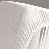 Дышащая, непромокаемая махровая простынь-чехол  120х60 см