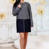 Размеры 44-58 Элегантное женское шерстяное пальто