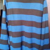 Мужской полосатый свитерок на каждый день