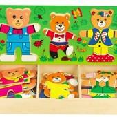 "Набор вкладышей ""Три медведя"", Руди (Д164у)"
