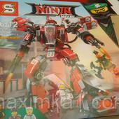 Конструктор SY 926 Ninja ниндзя Огненный робот Кая 737 д