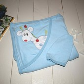 Великолепное влаговпитывающее полотенце с уголком и варежкой