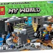 Конструктор Bela 10470 Minecraft Майнкрафт Портал в край 571 дет