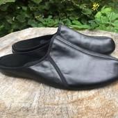 Кожаные тапочки из итальянской кожи