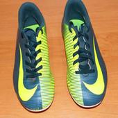 Кожаные бутсы Nike Mercurial для мальчика, размер 4 (22 см)