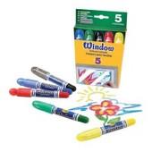 Восковые мелки для рисования на стекле Crayola 5 цветов (52-9765)