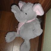 Мягкий плюшевый слоник в состоянии нового