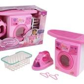 Детский набор бытовой техники Уютный дом 0923, стиральная машина, утюг, достка